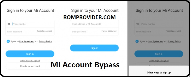 Xiaomi Mi account Bypass Solution for all Mi Phone by ROMProvider