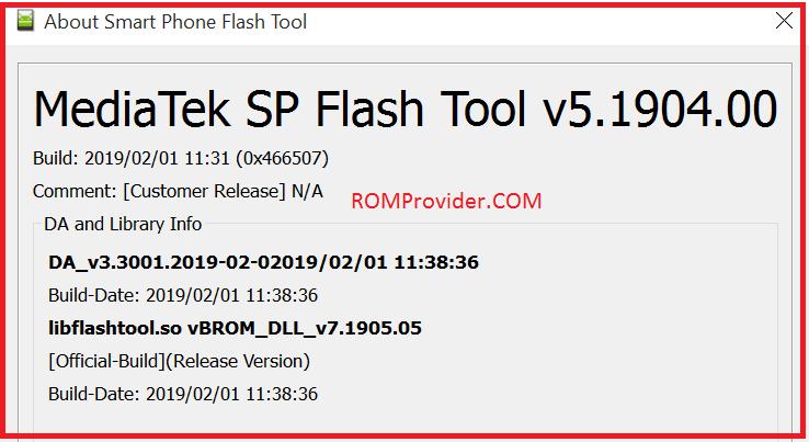 Download SP Flash tools 2019 V5 1904 00 - ROM-Provider